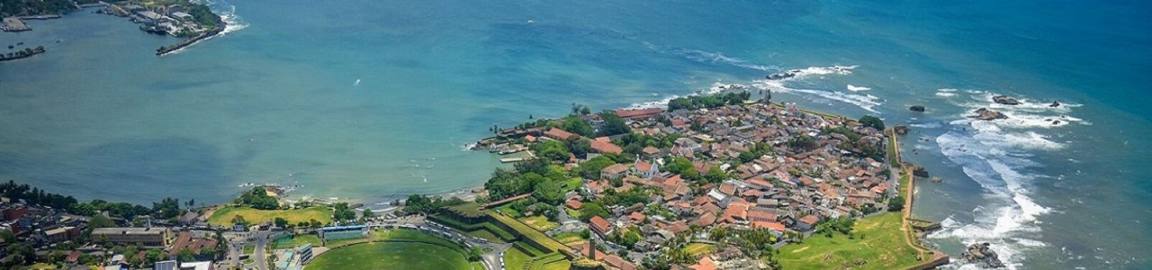 Areal view of Galle Sri Lanka